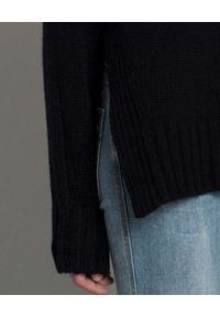 HEMISPHERE - Sweter z wełny i kaszmiru. Okazja: na co dzień. Typ kołnierza: golf. Kolor: czarny. Materiał: wełna, kaszmir. Styl: elegancki, casual