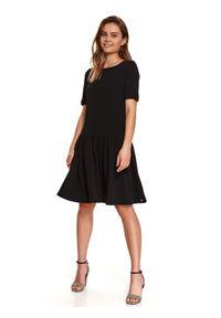 Czarna sukienka TOP SECRET gładkie, koszulowa