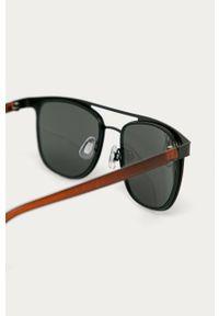 Czarne okulary przeciwsłoneczne medicine owalne