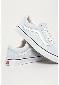 Vans - Tenisówki Old Skool. Nosek buta: okrągły. Zapięcie: sznurówki. Kolor: niebieski. Materiał: guma