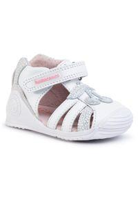 Białe sandały Biomecanics