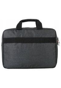 Szara torba na laptopa elegancka