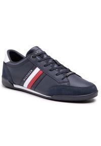 TOMMY HILFIGER - Tommy Hilfiger Sneakersy Corporate Material Mix Cupsole FM0FM03429 Granatowy. Kolor: niebieski