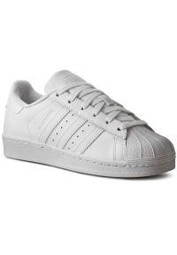 Białe buty sportowe Adidas jodełka, do koszykówki, z paskami