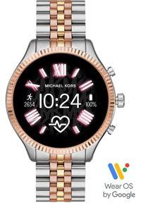 Złoty zegarek Michael Kors elegancki, smartwatch