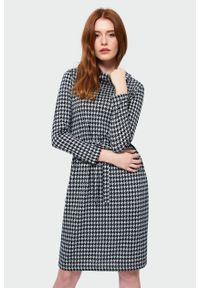 Greenpoint - Dzianinowa sukienka z golfem. Typ kołnierza: golf. Materiał: dzianina