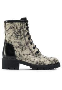 Beżowe buty trekkingowe Ann Mex z cholewką