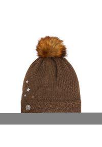Brązowa czapka zimowa Buff