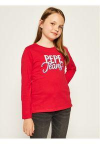Pepe Jeans Bluzka Serena PG502541 Czerwony Regular Fit. Kolor: czerwony