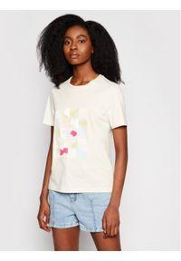 Beżowy t-shirt NA-KD