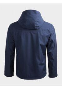 Niebieska kurtka outhorn na co dzień, casualowa, ze stójką