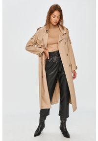 Beżowy płaszcz Answear Lab bez kaptura, wakacyjny