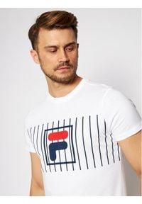 Fila T-Shirt Sauts Tee 687989 Biały Regular Fit. Kolor: biały