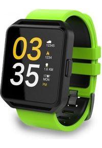 Smartwatch FitGo FW15 Square Zielony (FITGOFW15CZARZOL). Rodzaj zegarka: smartwatch. Kolor: zielony