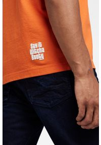 G-Star RAW - G-Star Raw - T-shirt bawełniany x Snoop Dogg. Okazja: na co dzień. Kolor: pomarańczowy. Materiał: bawełna. Wzór: nadruk. Styl: casual