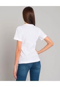 COMME DES GARCONS PLAY - Biały t-shirt z małym sercem. Okazja: na co dzień. Kolor: biały. Materiał: jeans. Styl: klasyczny, casual #3