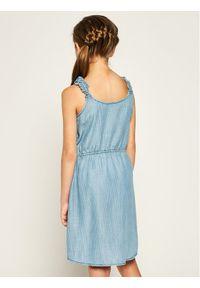 Niebieska sukienka Guess prosta, casualowa