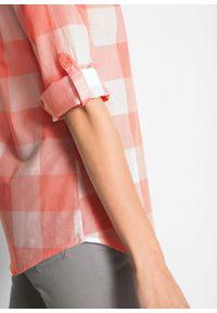 Różowa tunika bonprix długa, z długim rękawem