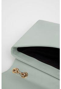 Sisley - Torebka. Kolor: niebieski. Materiał: pikowane. Rodzaj torebki: na ramię