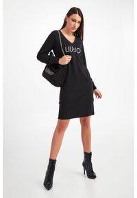 Liu Jo Sport - SUKIENKA LIU JO. Wzór: aplikacja. Typ sukienki: dopasowane. Długość: midi
