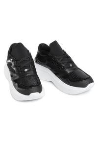 Czarne buty sportowe Karl Lagerfeld na co dzień, z cholewką