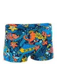 NABAIJI - Bokserki Pływackie Fitib All Marin Dla Dzieci. Kolor: wielokolorowy, pomarańczowy, czerwony. Materiał: poliamid, materiał, poliester