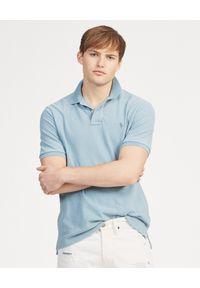 Niebieskie polo z krótkim rękawem Ralph Lauren polo, z haftami