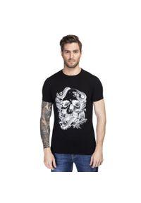 T-shirt Giacomo Conti na wiosnę, z nadrukiem