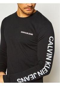 Czarna koszulka z długim rękawem Calvin Klein Jeans