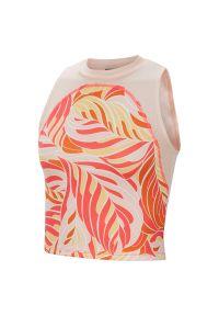 Koszulka damska Nike Brilliance CV0338. Materiał: materiał, poliester. Długość rękawa: bez rękawów. Technologia: Dri-Fit (Nike). Długość: krótkie. Sport: fitness