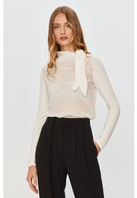 Kremowa bluzka MAX&Co. na co dzień, długa