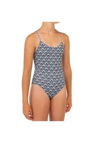OLAIAN - Kostium Kąpielowy Jednoczęściowy Hiloe 100 Seto Dla Dzieci. Kolor: czarny. Materiał: poliester, elastan, materiał