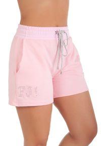 Różowe spodenki sportowe FJ! krótkie, na fitness i siłownię