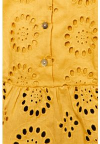 Żółta bluzka medicine na co dzień, z krótkim rękawem, krótka
