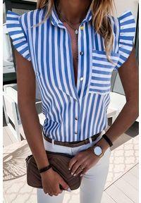 Bluzka IVET casualowa, w paski, z krótkim rękawem