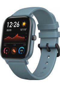 AMAZFIT - Smartwatch Amazfit GTS Niebieski (A1914BU). Rodzaj zegarka: smartwatch. Kolor: niebieski