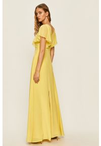 Żółta sukienka Karl Lagerfeld bez rękawów, rozkloszowana