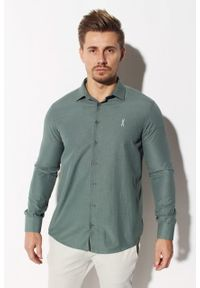 Zielona koszula Edward Orlovski elegancka, długa
