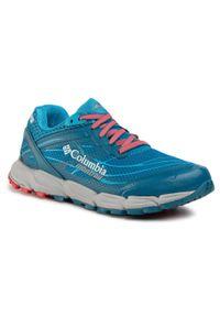 Niebieskie buty do biegania columbia z cholewką