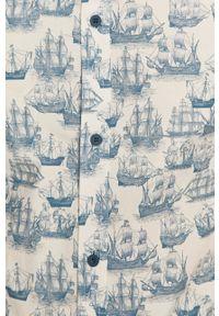 medicine - Medicine - Koszula Ships & Maps. Kolor: biały. Materiał: tkanina. Długość rękawa: krótki rękaw. Długość: krótkie