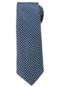 Oryginalny Krawat Męski w Drobny Charakterystyczny Wzór - Chattier, Kolorowy. Kolor: niebieski. Materiał: tkanina. Wzór: kolorowy. Styl: wizytowy, elegancki