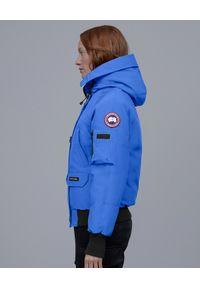 CANADA GOOSE - Niebieska kurtka Chilliwack. Kolor: niebieski. Materiał: materiał, futro. Wzór: aplikacja #5