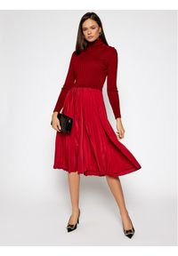 Czerwona sukienka dzianinowa Sportmax Code