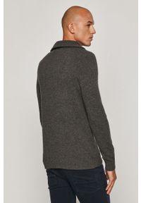 Szary sweter medicine krótki, z długim rękawem, casualowy, na co dzień