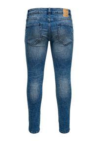 Only & Sons - ONLY & SONS Jeansy Warp 22013620 Granatowy Skinny Fit. Kolor: niebieski