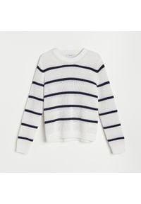 Biały sweter Reserved