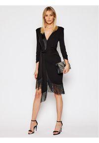 TwinSet Sukienka koktajlowa 202TP2402 Czarny Regular Fit. Kolor: czarny. Styl: wizytowy