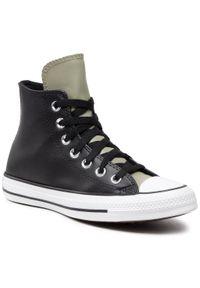Converse - Trampki CONVERSE - Ctas Hi 170390C Black/Light Field. Okazja: na co dzień. Kolor: czarny. Materiał: skóra, skóra ekologiczna. Szerokość cholewki: normalna. Styl: casual