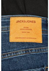 Jack & Jones - Jeansy. Kolor: niebieski. Wzór: aplikacja