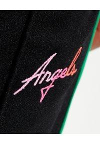PALM ANGELS - Szerokie spodnie z kolorowym lampasem Miami. Kolor: czarny. Długość: długie. Wzór: kolorowy